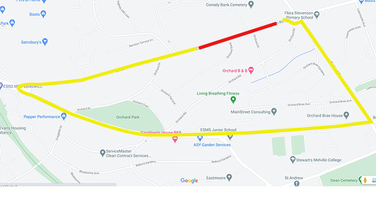 Craigleith Road Closure