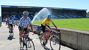 Scottish Water employees saddle up for charity