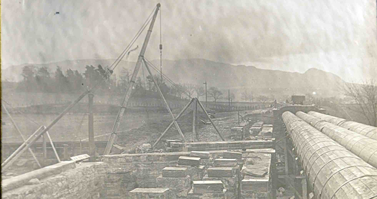 Glass slides discovery showing construction of Katrine Aqueduct