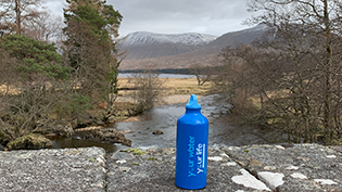 Scottish Water bottle takes West Highland Way road trip