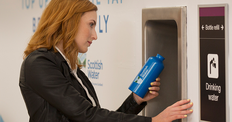 Edinburgh Airport backs YWYL Campaign with Top up from the Tap points