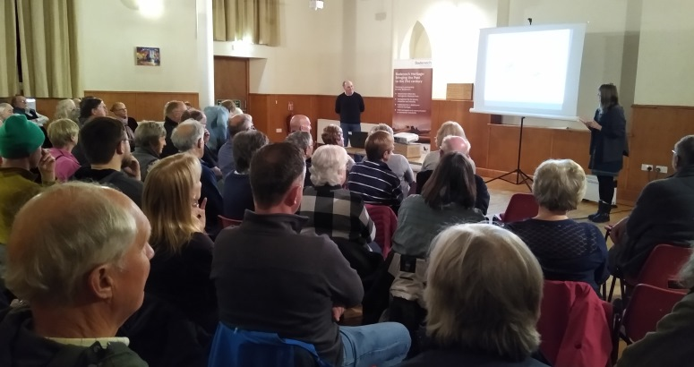 A packed Talla nan Ros in Kingussie was updated on the findings by Steven Birch