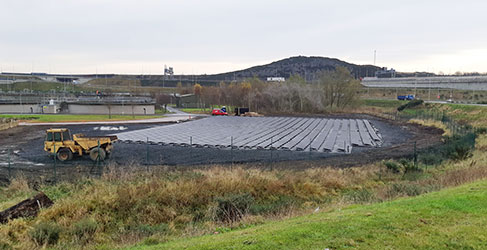 Solar Panels at Dunfermline WwTW
