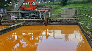 Oil at Waste water works