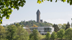 Stirling University with Wallace Monument in the background