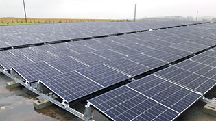 Solar panels at Craigie
