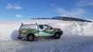 Scottish Water vehicle battles through snow