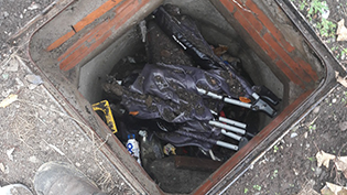 North Glasgow Sewer Used as Dumping Ground