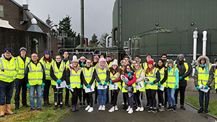 University Students visit Troqueer Waste Water Treatment Works