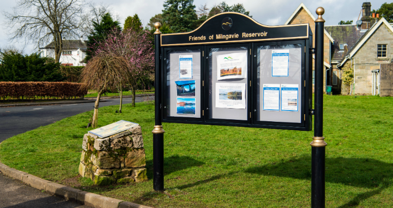 Milngavie Reservoirs - New Noticeboard