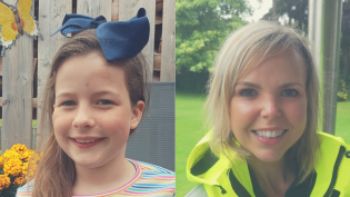 Kayleen Paterson (9) from Dingwall and Kirsty McLaughlan of Scottish Water