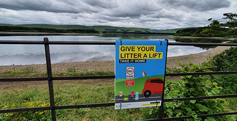 Anti Litter Plea with Forestry and Land Scotland