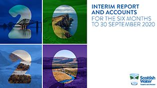 Front cover of Scottish Water Interim Report September 2020