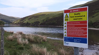 Water Reservoir Warning Sign