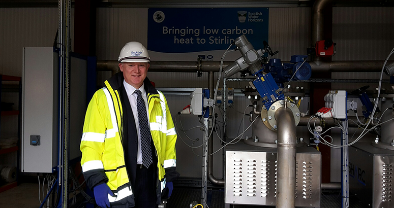 FM visits heat from waste water energy hub in Stirling