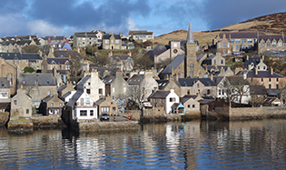Stromness Harbour from the sea