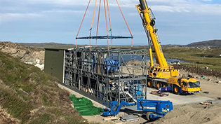 Lochmaddy Water Treatment Works modules arrive for delivery