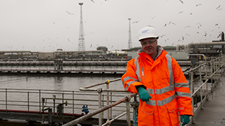 Scottish Water employee at Seafield