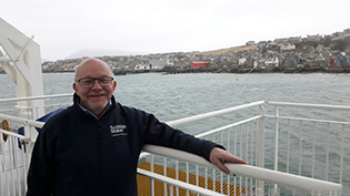 Steve Scott from Fife retired from Scottish Water, April 2018
