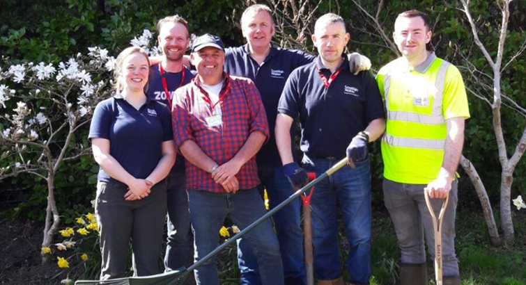 Scottish Water Volunteers at Highland Hospice