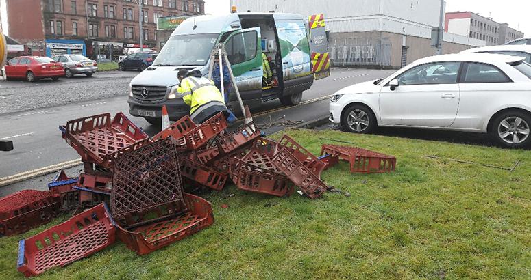 bread baskets found in glasgow sewer