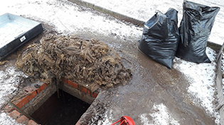 Angus sewer wipes haul is call to keep cycle running