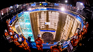 Shieldhall Tunnel breakthrough