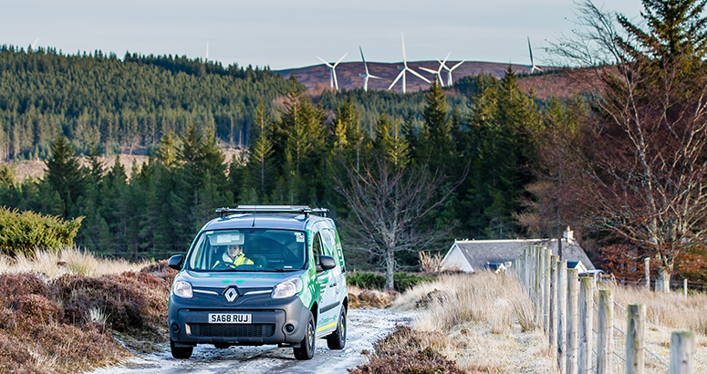 Scottish Water introduces fully electric-powered Renault Kangoo