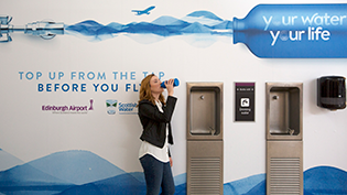 Edinburgh Airport backs Your Water Your Life Campaign