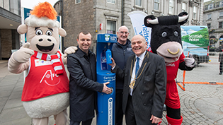 Aberdeen FC CT Top up Tap launch