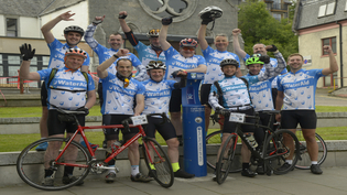 Scottish Water fundraisers embark on a cycle challenge to Glastonbury