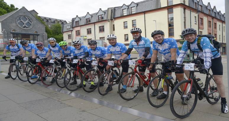 Scottish Water riders embark on fundraising cycle to Glastonbury