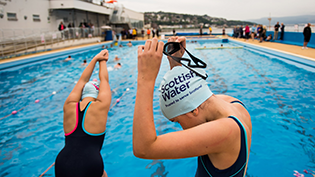 Learn to Swim launch Gourock Outdoor Pool