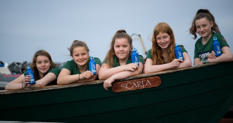 The U16 Lasses of Lerwick Boating Club
