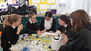 Currie High School pupils take on the Water Supply Challenge
