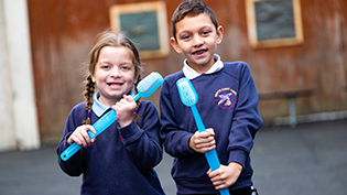 Annette Primary School celebrate National Toothbrushing Day