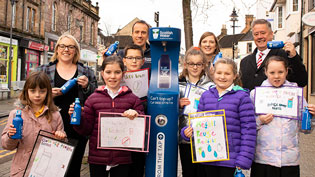 Sunnyside Primary School help launch Alloa Top Up Tap