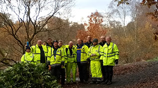 Volunteers at Callendar Park