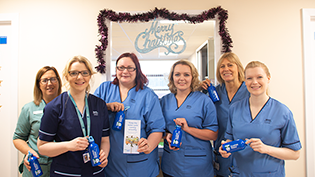 Fife Midwives with their water bottles