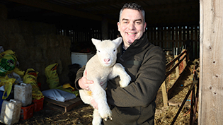 Scottish Water's first FONE scheme sheep farmer