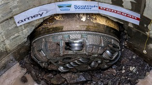 Paisley TBM Breakthrough Tunnel Pic