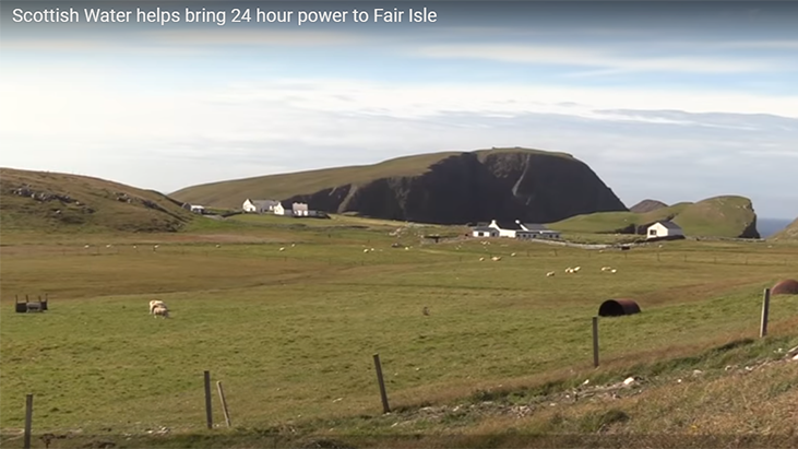 Scottish Water helps bring 24 hour power to Fair Isle