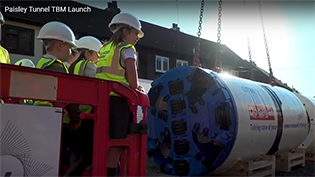 Paisley Tunnel Boring Machine Launch video